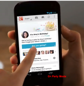 Google+ Mobile App: Party Mode